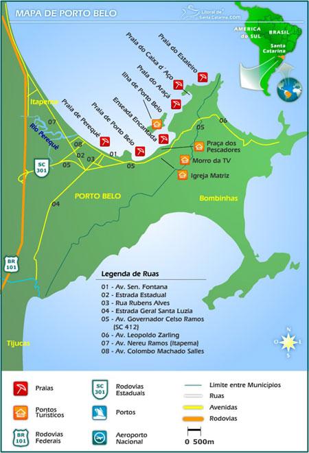 Mapa De Porto Belo Imprima E Viaje Tranquilo