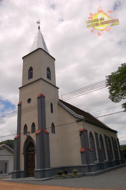 Igreja de Pomerode na Rota do Enxaimel SC