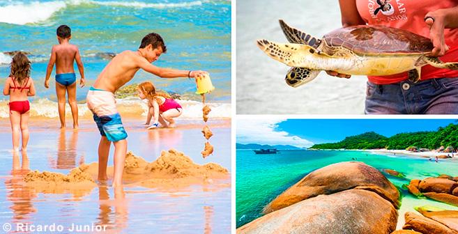 Imagens praias para curtir com as crianças em Florianópolis – Fotos de Ricardo Junior / www.ricardojuniorfotografias.com.br