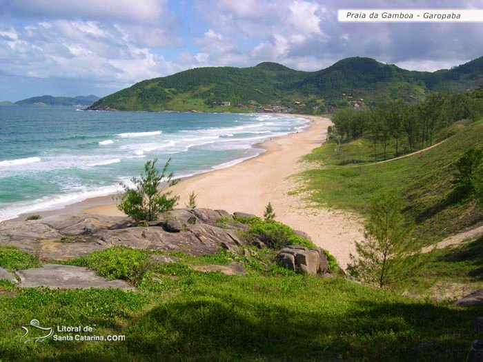 Foto da praia da gamboa, em Garopaba – Fotos de Ricardo Junior / www.ricardojuniorfotografias.com.br