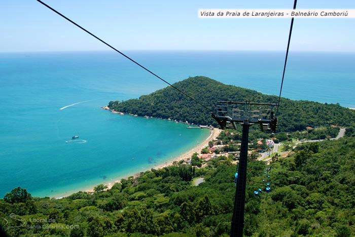 Vista do bondinho unipraias para a praia de laranjeiras em Balneário Camboriú - Foto Marcelo Fernandes